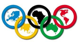 Atividade de educação física sobre as olimpíadas.