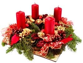 Bella Corona de Adviento por Navidad
