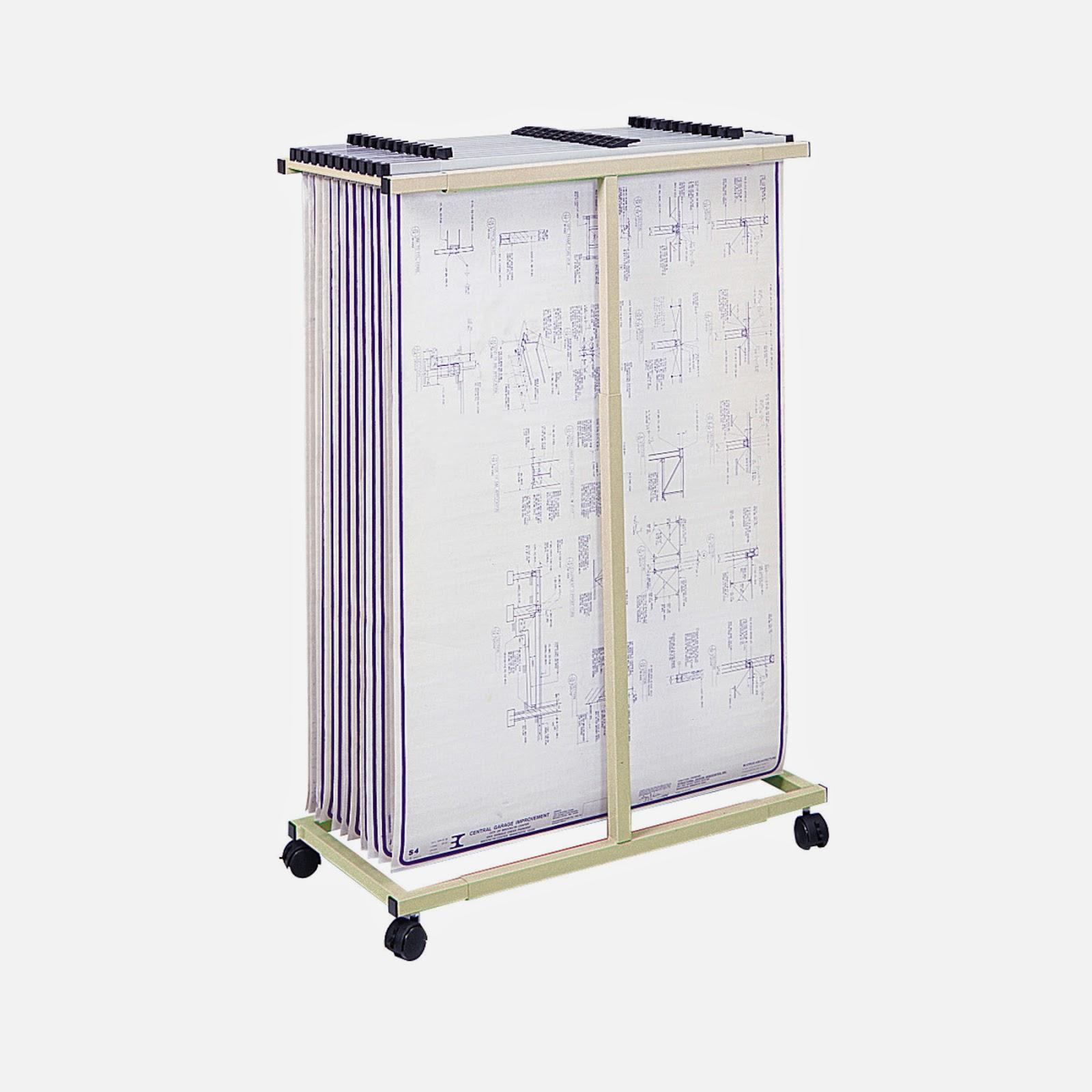 Drafting Steals: Safco Blueprint Plan Rack Vertical File ...