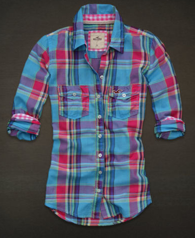 REF 0047 - Camisa Xadrez Hollister feminina tamanho M R  150 d33d63f7e9649