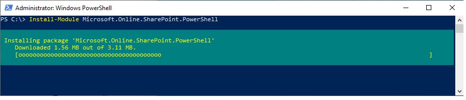 sharepoint online powershell module install