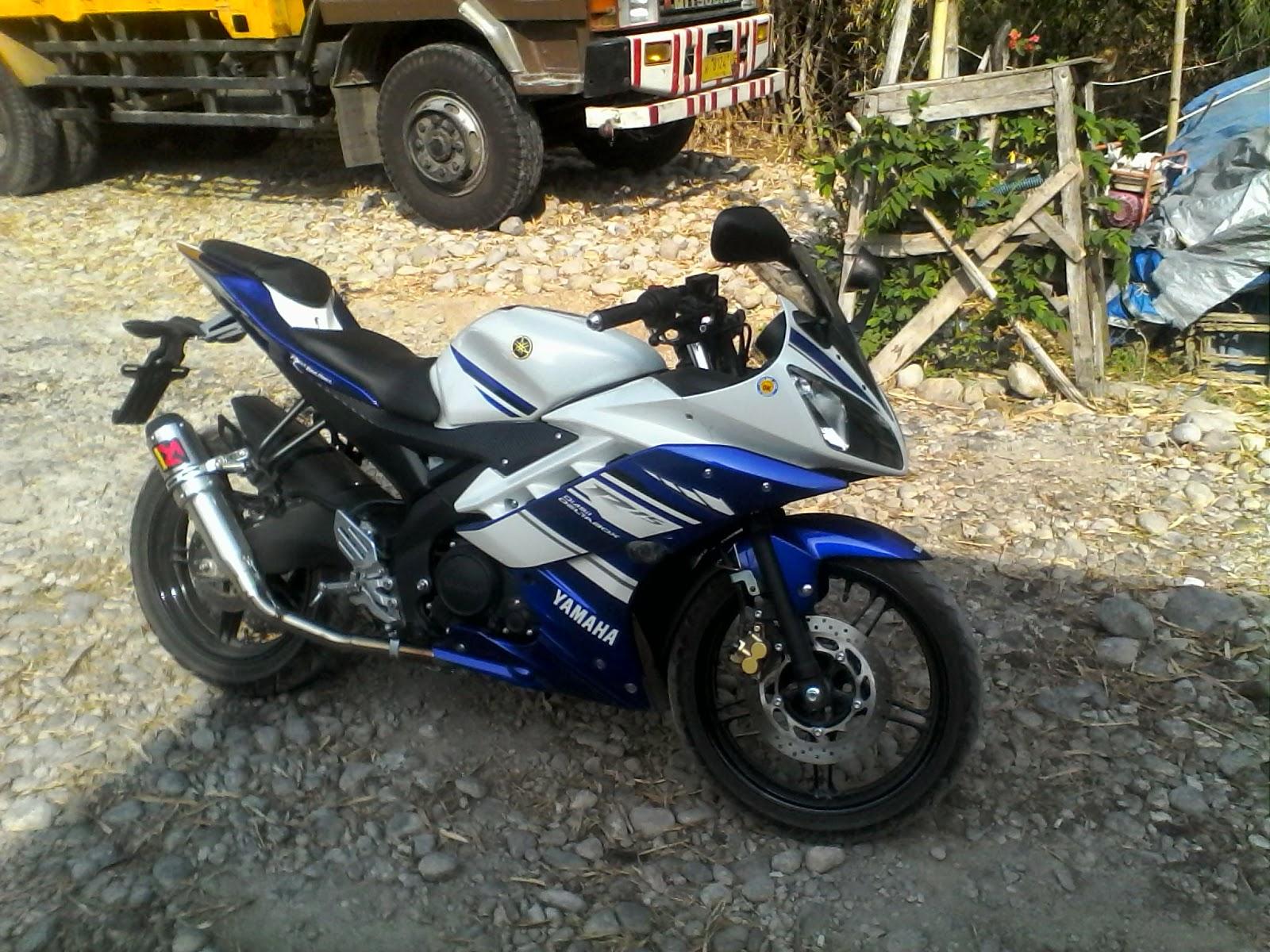 Foto Modifikasi Yamaha R15 Terbaru Movistar New Merah Velg Jari Jari