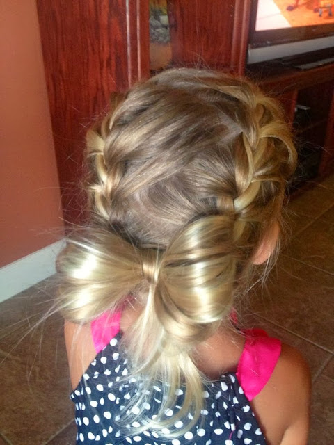 Ravyns braided hair! Cute little girl hair style :)