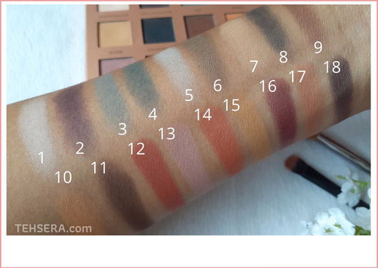 swatches focallure eyeshadow palette