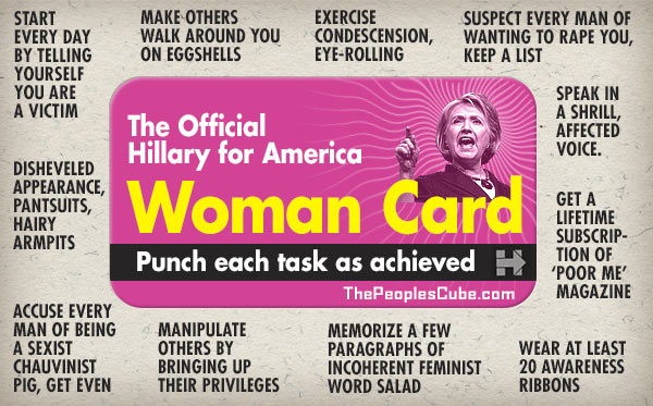 Image result for HILLARY'S RACE CARD