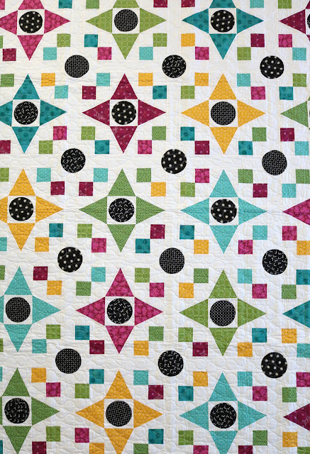 Game Night quilt pattern from Fresh Fat Quarter Quilts book by Andy Knowlton of A Bright Corner - twelve fun fat quarter quilt projects to sew and love