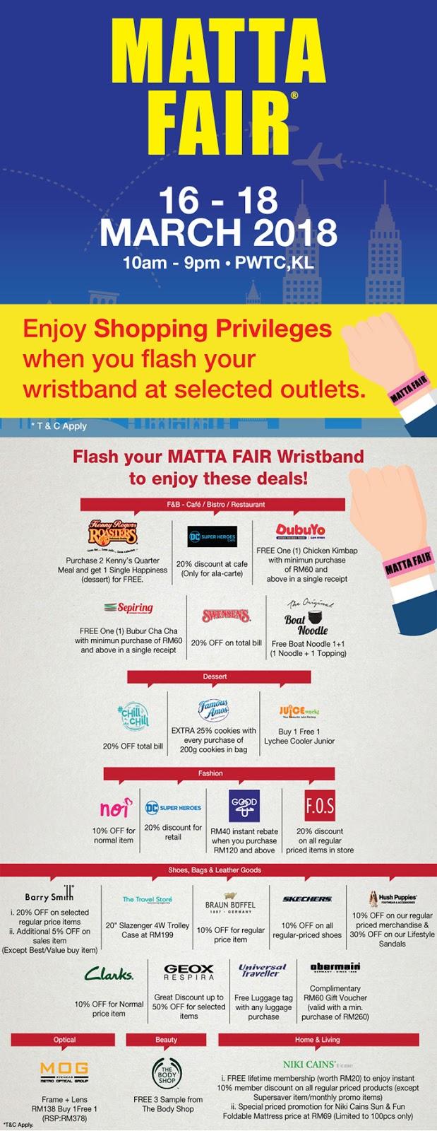 Promosi menarik Sunway Putra Mall Matta Fair 2018