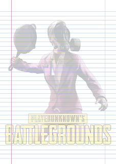 Folha Papel Pautado Battlegrounds modelo 6 PDF para imprimir folha A4