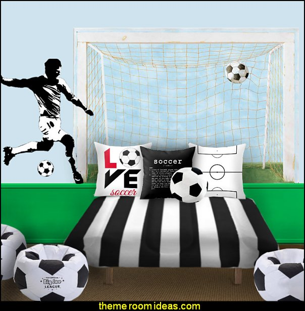 socer bedroom soccer bedding soccer pillows  Sports Bedroom decorating ideas -  Wrestling theme bedroom decorating - boxing theme bedrooms - martial arts - skateboarding theme bedrooms  - football - baseball - basketball theme bedrooms - basketball bedding - golf theme bedrooms - hockey bedding - theme beds sports