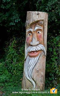 Folletto in legno a Ornavasso
