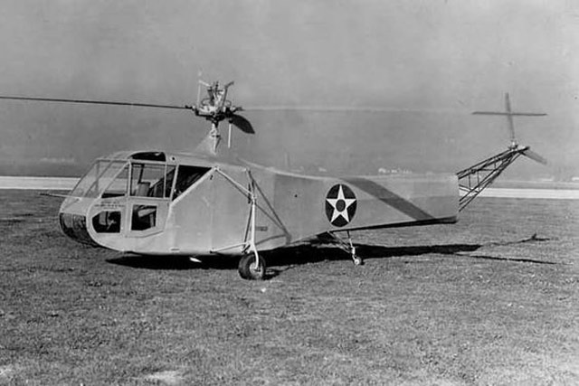 The Sikorsky XR-4, delivered to the US military on 17 May 1942 worldwartwo.filminspector.com