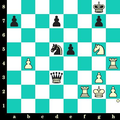 Les Blancs jouent et matent en 2 coups - Pavel Tregubov vs Krishnan Sasikiran, Moscou, 2013