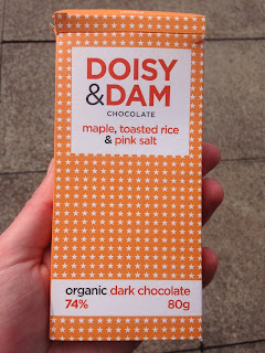 Doisy & Dam Maple, Toasted Rice & Pink Salt Dark Chocolate