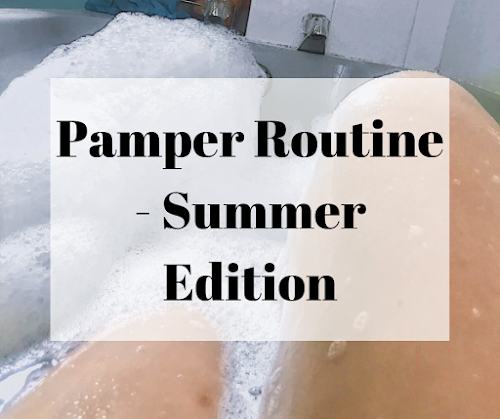 Page Title girl in a bath - Summer Pamper Routine