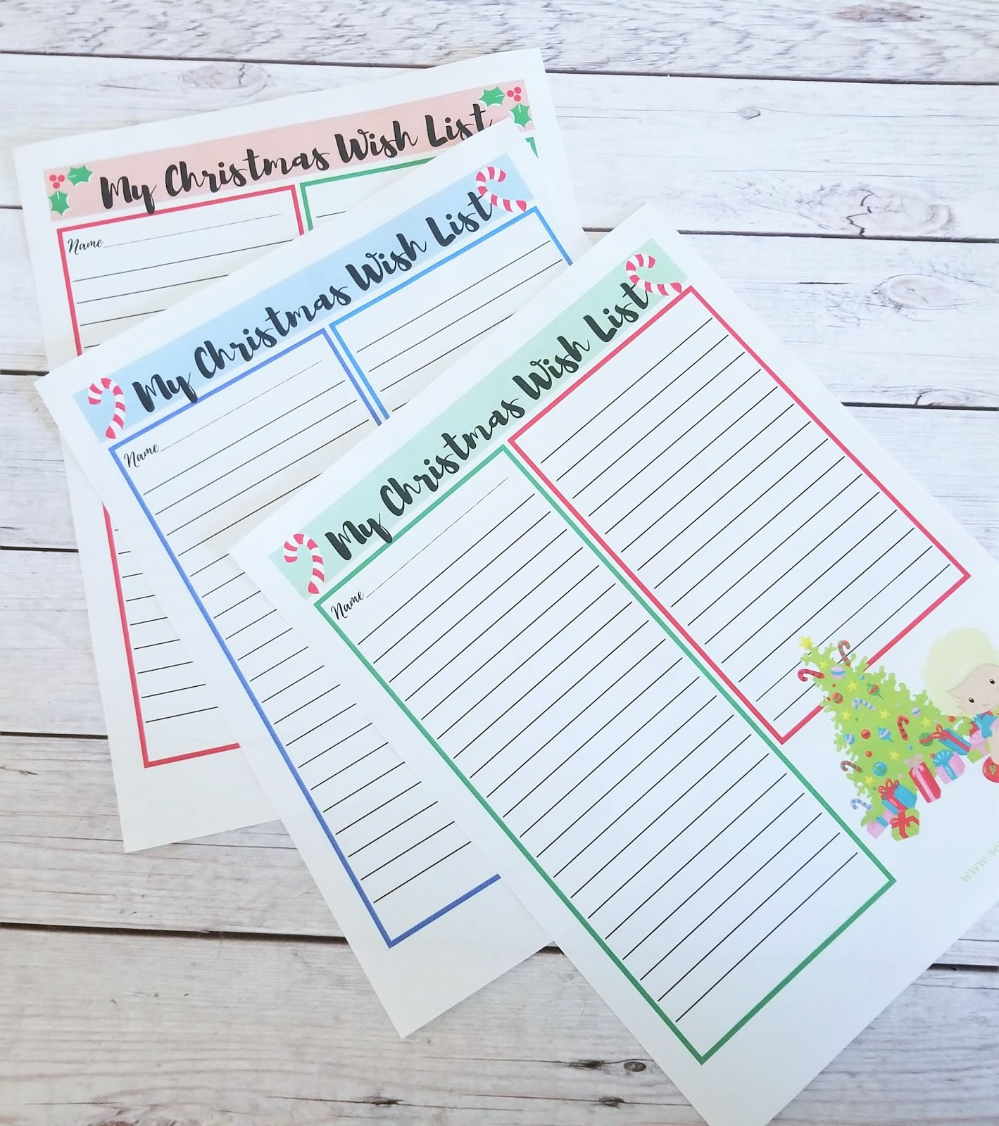Free Christmas Wish List And Letter To Santa Printables