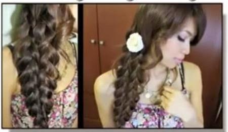 kepang rambut ala korea