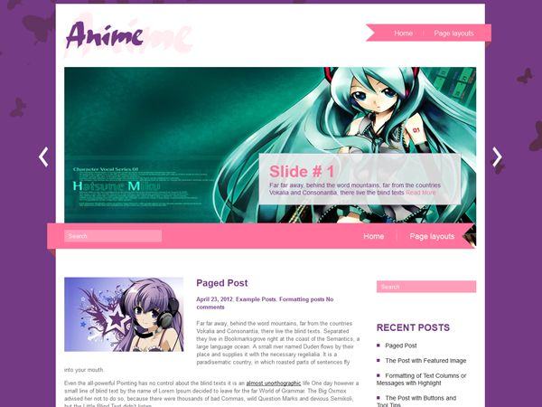 Anime Wordpress Themes