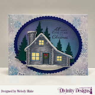 Stamp/Die Duos: Home for Christmas, Custom Dies: Scalloped Ovals, Oval Stitched Rows, Trees & Deer, Paper Collection: Christmas 2019