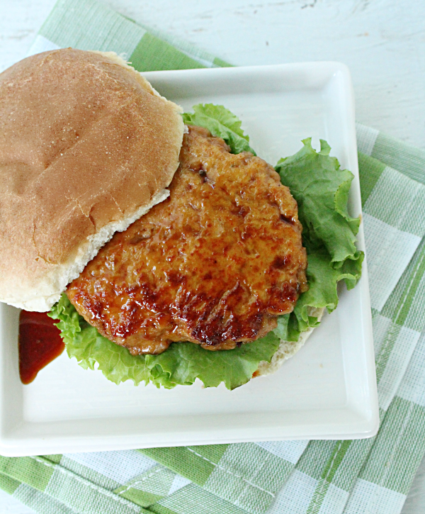 Chicken Teriyaki Burgers (or Sliders) with Homemade Teriyaki Sauce from Table for Seven