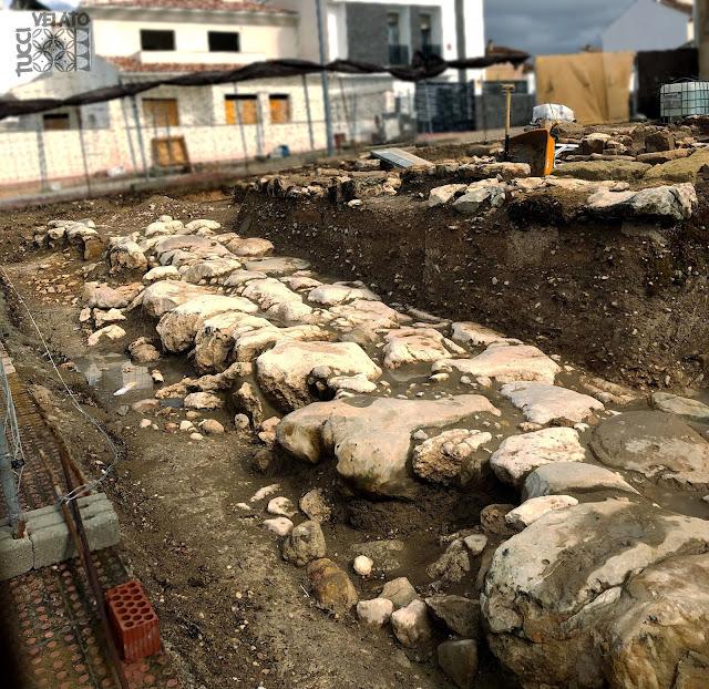 Calzada romana del polideportivo de Martos