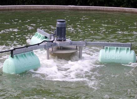 Equipo de mezclado para tanque de igualación del tipo flotante
