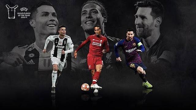 Cầu thủ hay nhất UEFA 2019: Siêu hậu vệ Van Dijk đấu 2 siêu nhân Ronaldo - Messi