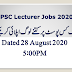 PPSC Lecturers Total Applications Submitted Status August 28, 2020 5:00PM