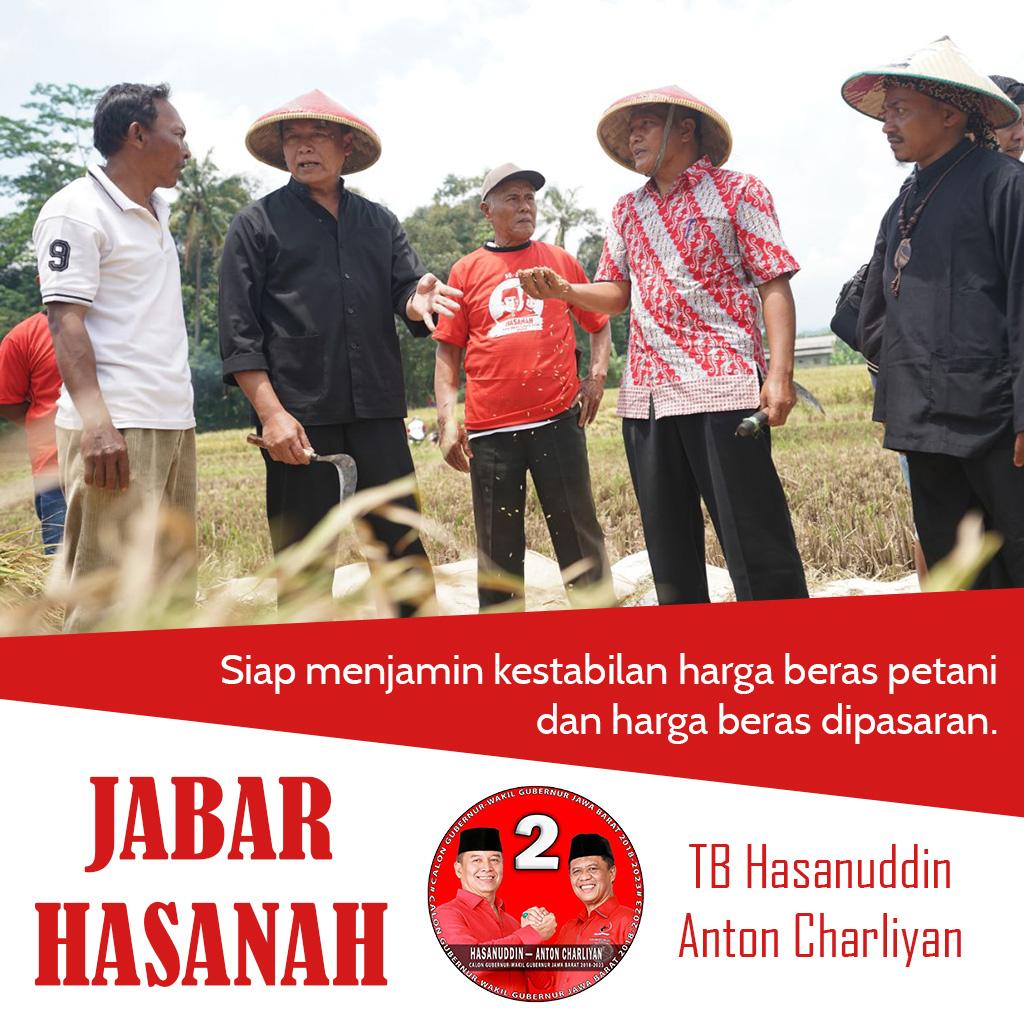 Kang Hasan Siap Jamin Kestabilan Harga Beras