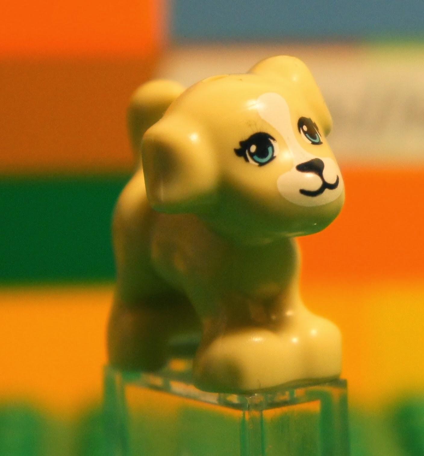 Lego Friends Light Beige Dog Puppy Pet Animal Minifigure