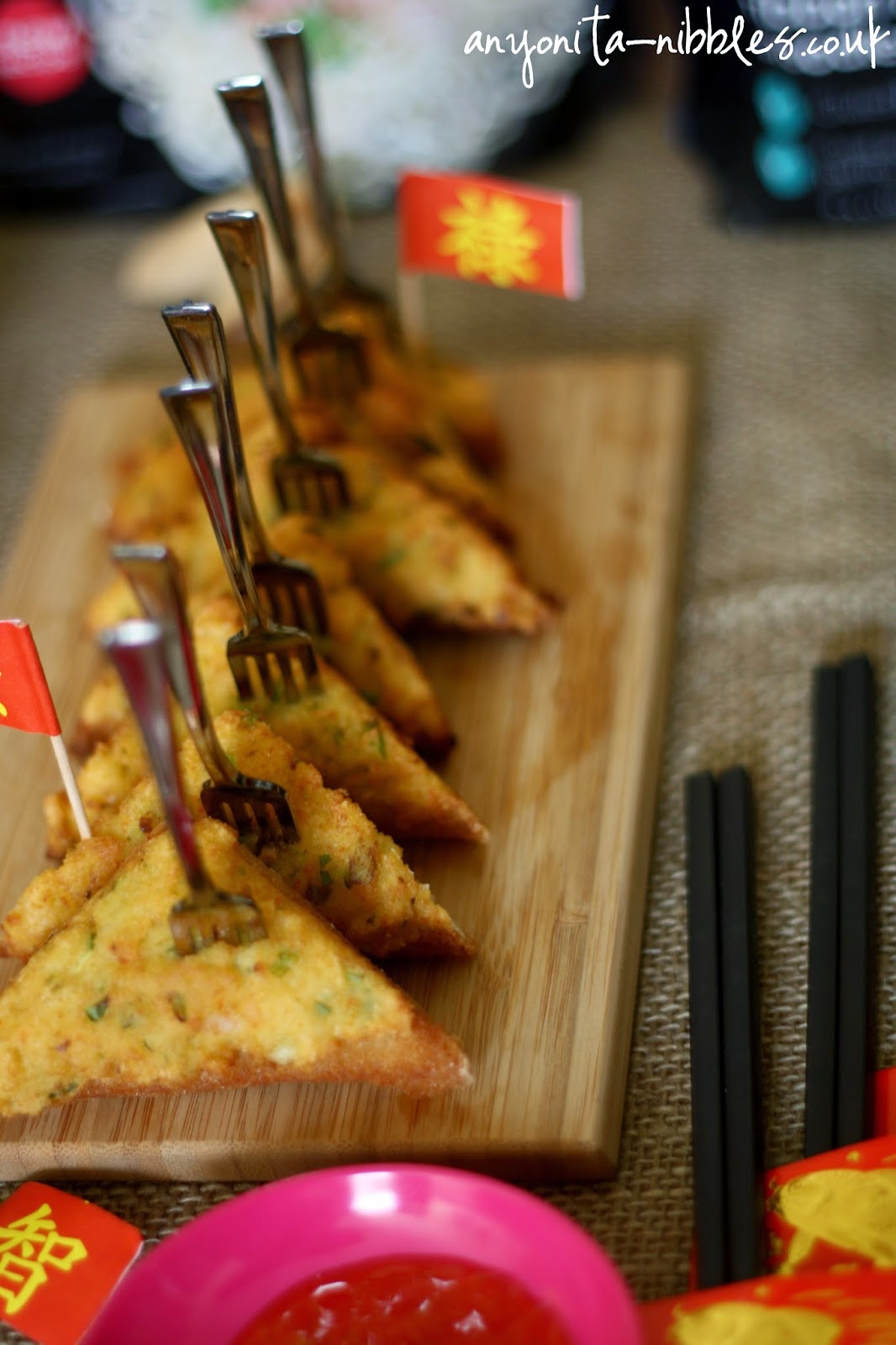 Prawn Toasts at a Chinese Banquet from Anyonita-nibbles.co.uk
