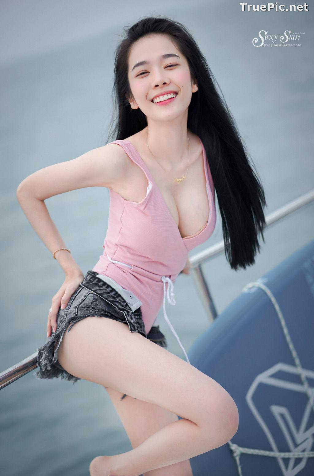 Image Thailand Model - Patcharin Srikunchai - Pink Monokini and Jean Pants - TruePic.net - Picture-5
