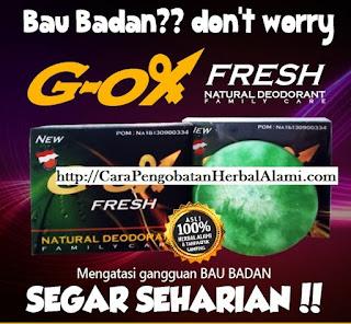 Jual obat herbal penghilang bau badan/ketiak G-OX FRESH alami ASLI