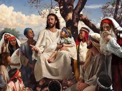 Resultado de imagem para painting of jesus and children