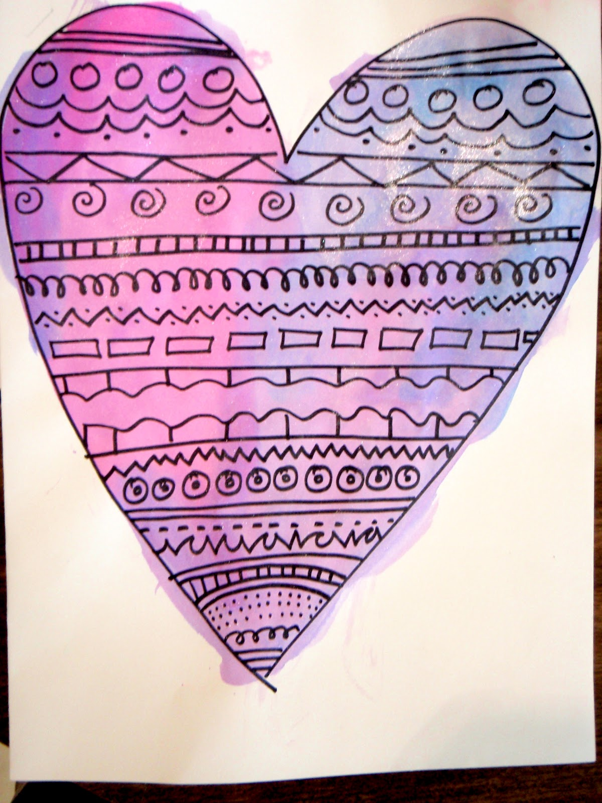 Different Kinds Of Lines In Art And Their Meanings : Fayston elementary art kindergarten pattern hearts
