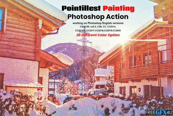 Pointillist Painting PS Action
