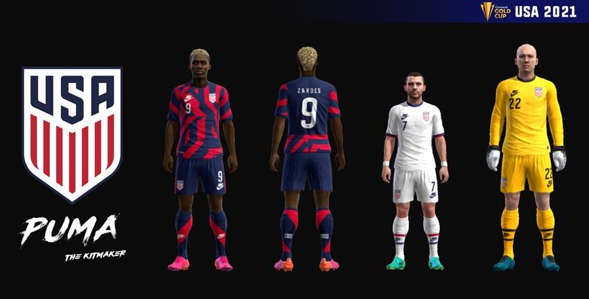 USA 2021 Kits For PES 2013