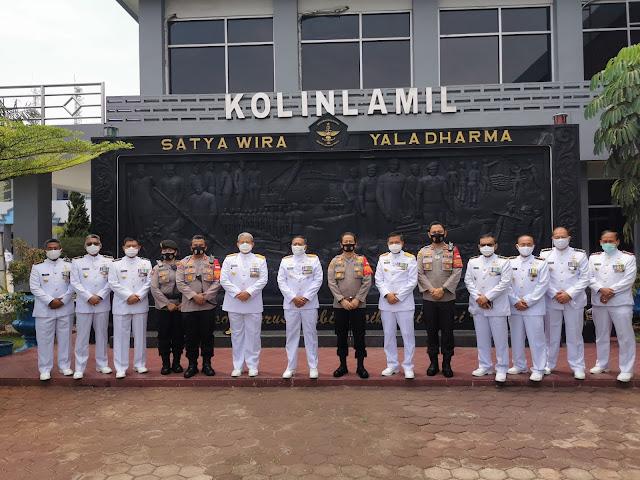 Hari Jadi  Ke - 75 TNI AL, Kapolres Pelabuhan Tanjung Priok Kasih Ucapan Selamat Kepada Panglima Kolinlamil dan Danlantamal