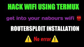 Termux wifi hack command list