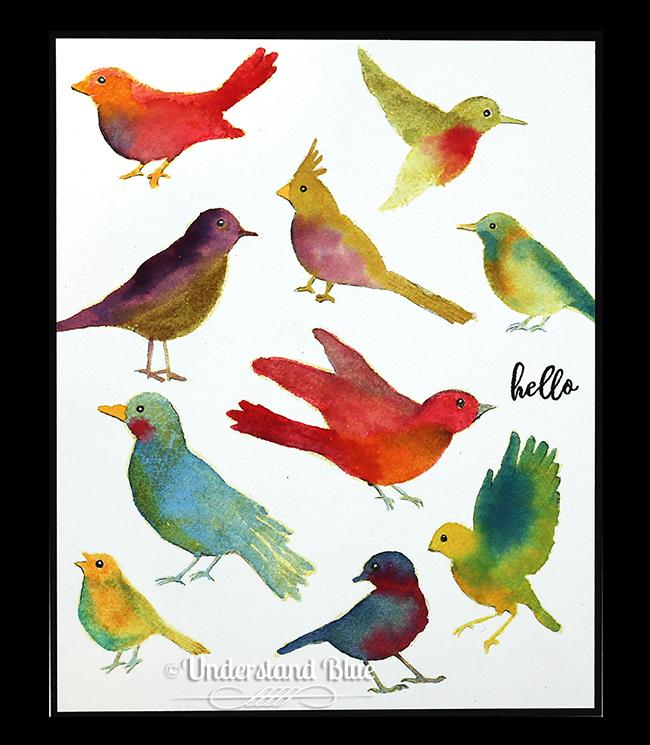 Watercolor Hero Arts Birds by Understand Blue