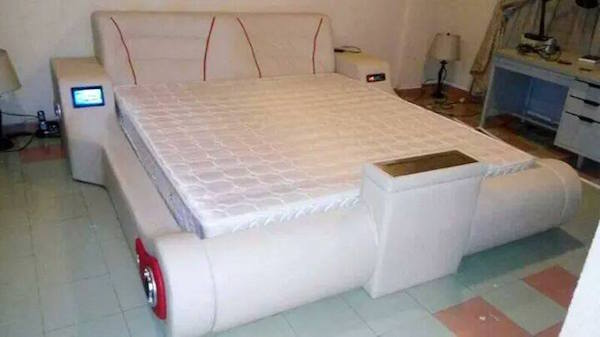 Check Out Electronic Bed Reportedly Made By Nigerian Man