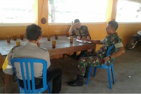 Babinsa Koramil Wonosari Jalin Sinergitas Dengan Aparat Pemerintah Desa Diwilayah Desa Binaan