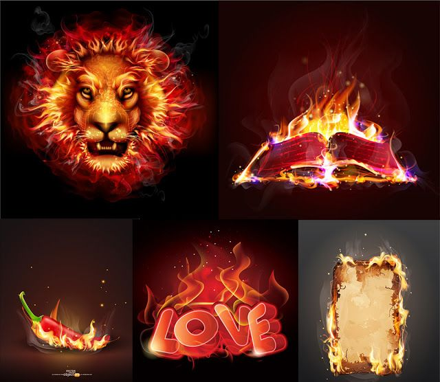 Creative Fire Vector Effect