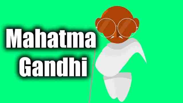 Vector image of mahatma gandhi used for essay on Gandhiji
