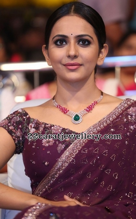 Rakul Preet Diamond Ruby Set