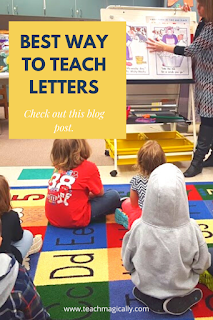 Best way to teach letters- teach magically