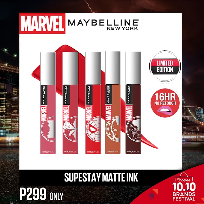 Who Loves Marvel? Maybelline have a Limited Edition Marvel Superstay Matte Ink & Maybelline Marvel Instant Age Rewind Available on Shopee