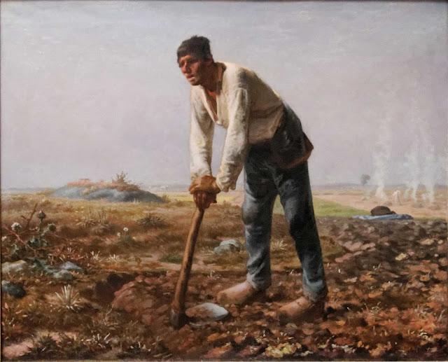 Жан Франсуа Милле - Человек с мотыгой. 1862