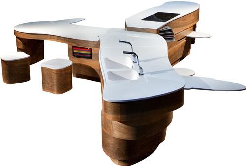 Diseño de cocina estilo navaja suiza.