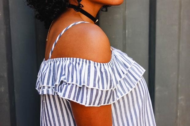 Blusa de listras Amiclubwear