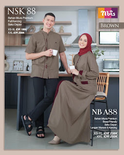 Nibras Sarimbit Couple 88 Brown